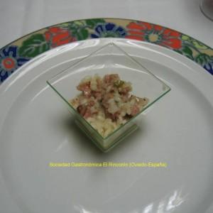 Aperitivo de arroz con butifarra