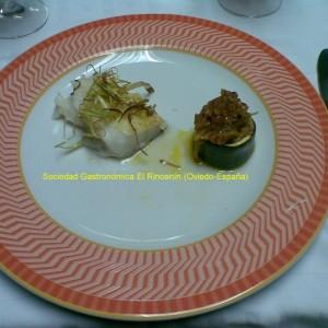 Bacalao a la plancha con verduras
