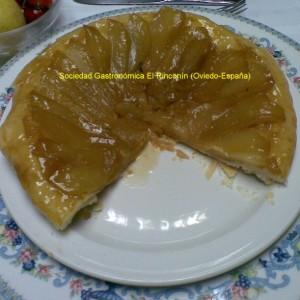 Tarta de pera tipo Tatin