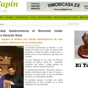 El Rinconín rindió homenaje a Gerardo Sanz
